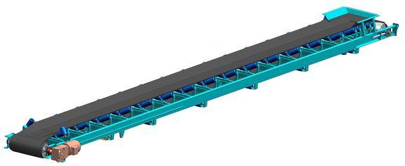конвейер ленточный стационарный типа клс 1400